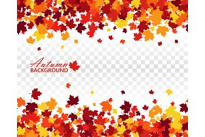Fall seamless vector background
