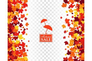 Autumn sale seamless background