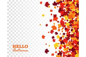 Autumn seamless maple leaves pattern