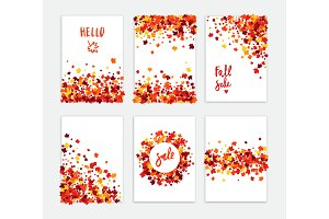 Fall sale creative greeting card set