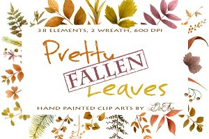 Pretty Fallen Leaves Clip Arts