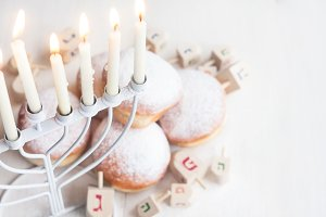 Jewish holiday Hannukah background