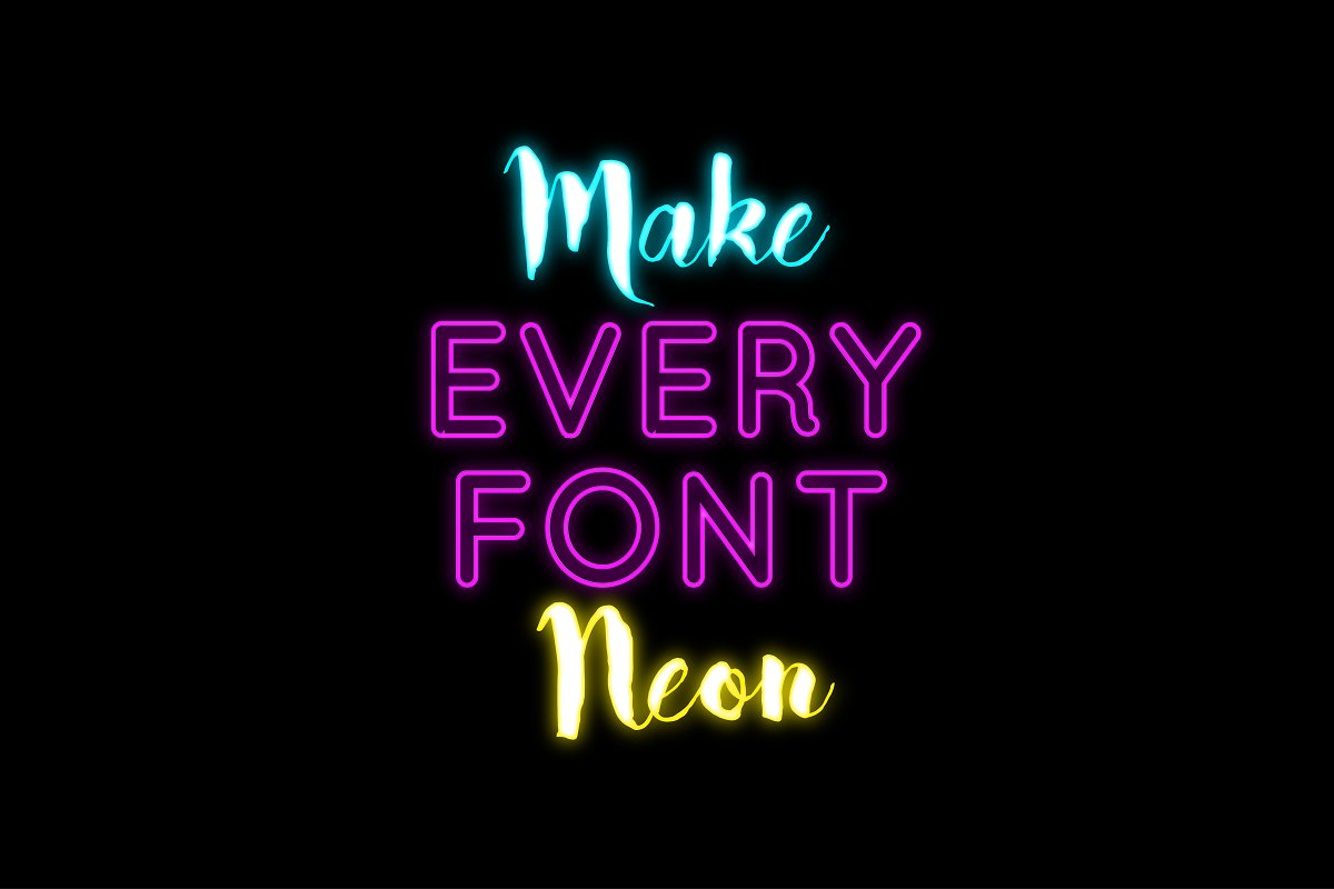 Make Every Font Neon