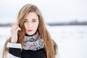 beautiful girl in winter