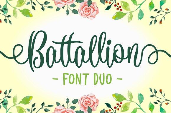 Battallion Font Duo 30% OFF