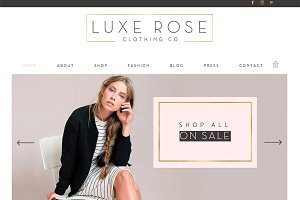 E Commerce Wix Website Template