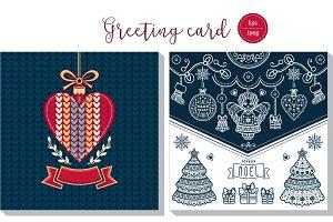 Joyeux Noel. Christmas card.