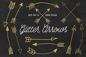 Hand Drawn Glitter Arrows