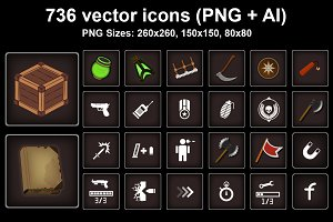 736 vector icon. GUI Icons Pack
