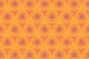 Hexagons in Yellow and Orange