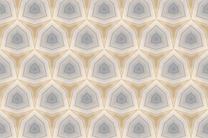 Vintage Look Hexagon Pattern