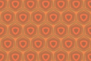 Orange and Gold Abstract Pattern