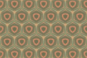 Hexagons in Green and Orange