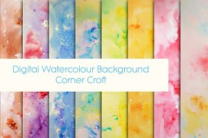 Watercolor Paint Splatter Pattern
