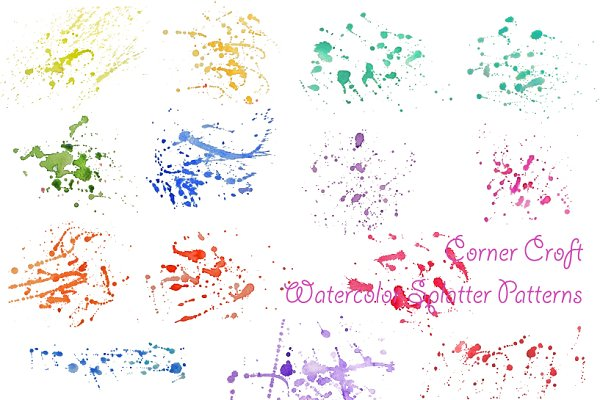 Watercolor Paint Splatter Patterns