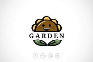 Sun Flower Garden Logo Template
