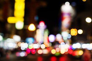 Blurred street bokeh lights