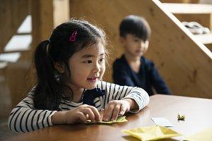 Adorable asian kids