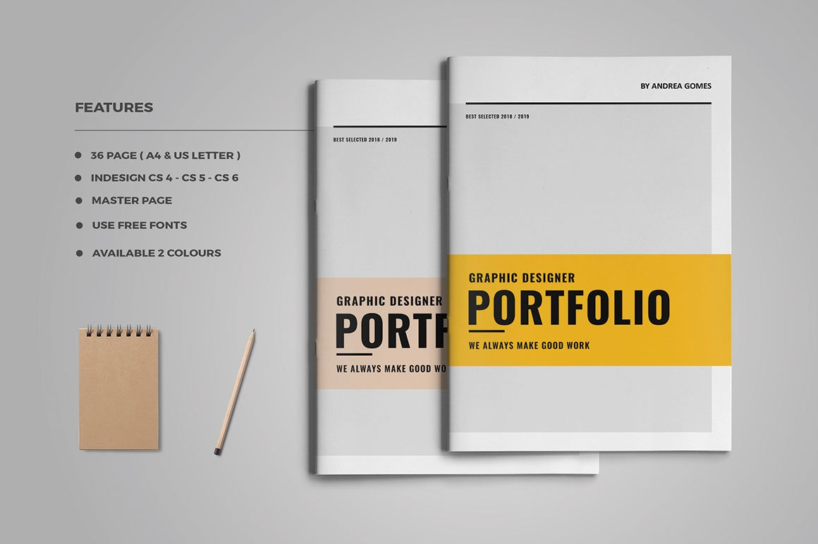 graphic design portfolio brochure templates creative market. Black Bedroom Furniture Sets. Home Design Ideas