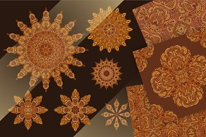 Pack of golden-brown ornaments