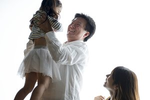 Japanese family happiness