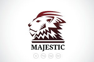 Majestic Lion Logo Template