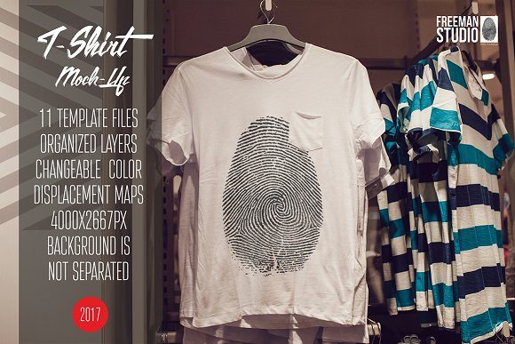 T-Shirt Mock-Up Vol.14 2017-Graphicriver中文最全的素材分享平台