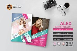 Alex Fashion Magazine Template