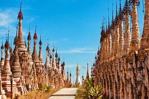 Buddhist Kakku Pagodas in Myanmar