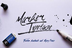 Marker Typeface & Bonus (50%off)
