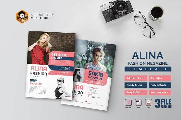 Alina Fashion Magazine-Graphicriver中文最全的素材分享平台