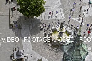 Fountain of Neptune, city-port Gdansk in Poland