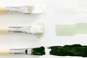 Paintbrush art on white background