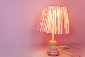 Lamp decorate in a room