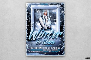 Winter Glam Flyer Template V1