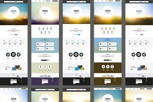 One Page Website Template Set