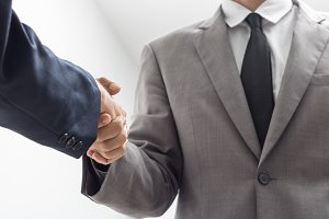 business people handshake.