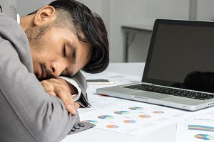 Businessman sleep