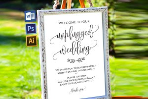 Unplugged wedding sign Wpc351