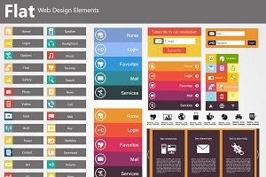 Flat Style Web Elements