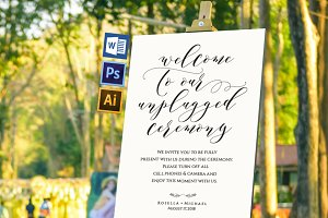 Unplugged wedding sign Wpc352