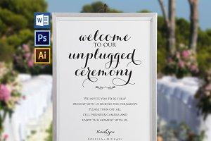 Unplugged wedding sign Wpc354