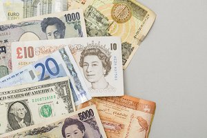 Global currency background