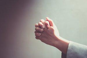 woman's hand prayer