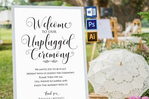 Unplugged wedding sign Wpc355