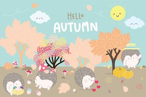 Happy Hedgehog @ Autumn season
