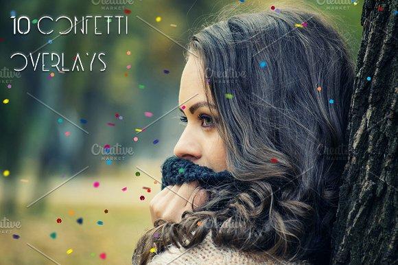 5K Confetti Overlays Vol. 2