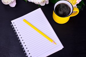 empty paper notebook