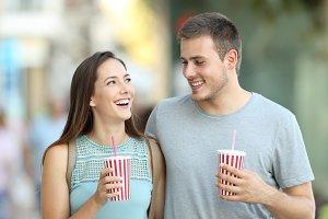 Portrait of a happy couple talking