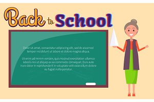 Back to School Poster Geometry Lesson with Teacher